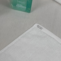 Quality 60g/Pc White Cotton Face Towel for sale