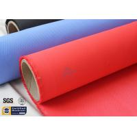 "Quality Fiberglass Fire Blanket 490GSM 3732 39"" Red Acrylic Coated Glass Fiber Fabric for sale"