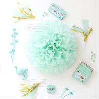 Buy Paper Flower Balls Tissue Paper Pom Poms For  Birthday/Wedding/Party Decorations at wholesale prices
