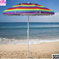 Quality Promotional colourful sandy beach umbrella , sun beach umbrella made in China with best price for sale