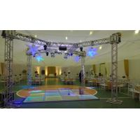 Quality 3 Level Adjustable Height Arclic Glass Portable Movable Stage Platform 400KG Loading Capacity 4 X 4ft for sale