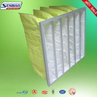 China F7 F8 Yellow Dust Collector Filters , Baghouse Filters 90%-95% Efficiency on sale