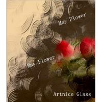 Buy 3mm to 8mm May Flower Patterned Glass, Rolled Glass, Figured Glass with Certificate ISO and BV at wholesale prices