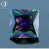 9x9mm Square princess Shape Rainbow Cubic Zirconia gemstone for sale
