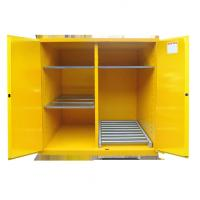 Buy Fire Prevention Drum Storage Cabinets Special Double Layer Sheet Steel Design at wholesale prices