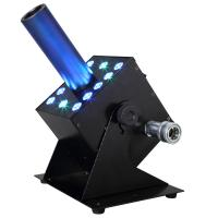 Quality 12pcsx 3W RGB 3IN1 LED Fog Machine CO2 Stage Special Effect Multi Angle DMX512 Jet Cannon for sale