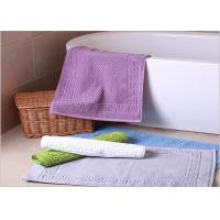 Quality Decorative Hotel Bath Mats / Plush Bathroom Rugs Washable Disposable for sale