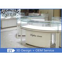 Buy Glass Wooden Jewellery Display Counter / Jewellery Shop Fittings at wholesale prices