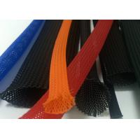 Quality Colorful Braided Electrical Wire Wrap Self - Extinguishing With PET Material for sale