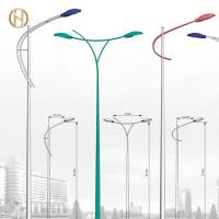 Quality Anti Rust Outdoor Street Light Pole 3-14M Height for sale
