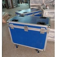 Quality Blue 9mm Plywood Rack Flight Case With Wheels For Light for sale