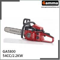 Buy cheap chain saw 5800, gasonline chain saw, Oregan guide bar, 54.4cc displacement from wholesalers