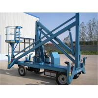 Quality Mobile Electric Boom Lift 12m Height GTZ-8D With 360 degrees Rotation Arm for sale