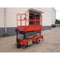 Quality 0.75 - 3Kw Power Hydraulic Aerial Work Platform , Full Electric Mobile Elevated Platform for sale