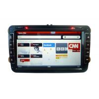 8 Inch 3G PIP Virtual Charger Volkswagen DVD GPS With 3D Map / Smart TV / Car