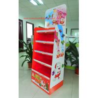 Quality Chocolate Cardboard Floor Display with steel bar under each shelf,bespoke Floor Display rack for sale