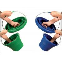 China Large 10L Folding Silicone Water Bucket For Household , Eco - Friendly on sale