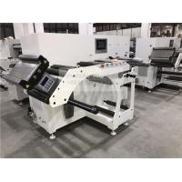 China Two Heads Flat Bed Slitting Machine With Manual Rotary Die Cutting For Blank Label on sale