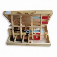 Quality Educational Toys in Wooden Box, Includes Ruler, Hammer, Saw and Screwdriver for sale