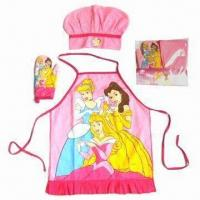 Quality Kid's Apron Set, Customized Colors are Accepted for sale