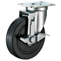 Quality Black Industrial Locking Casters / Hard Rubber Industrial Strength Casters for sale