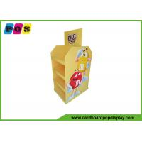 Quality CMYK Full Color Cardboard Floor Displays Trade Show Stand For Candies PA018 for sale