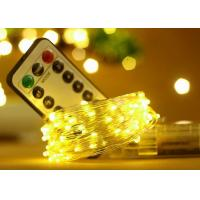 Quality 5M 50 LED Battery Operated String Lights With Remote Control Wedding Decorations for sale