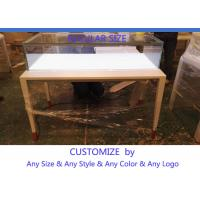 Buy Simple Usefull Modern White Wood Glass Counter Display For Jewelry at wholesale prices