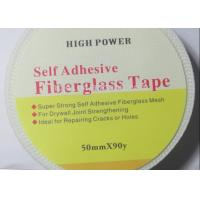 Quality 50mmx90m Strong Self Adhesive Drywall Fibre Glass Joint Tape For Reinforcing Wall for sale