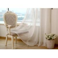 Quality Linen Yarn Blending Pure White Bathroom Window Curtains With Different Size for sale