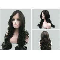 Quality Ladies Natural Looking Human Hair Wigs Loose Wave Natural Hairline for sale