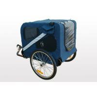 Quality Openable front cover, ventilation mesh, 600D polyester fabric Bicycle Pet / Dog Trailer for sale