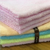 Quality Coloured Cotton Ribbon Towel Gift Sets for sale