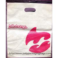 China Embossing Die Cut Shopping Bag White Plastic Bags With Handles on sale