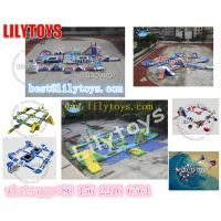 Buy cheap 0.9 mm Pvc Yellow And Blue Inflatable Water Games Passed SGS Certification And EN15649 from wholesalers