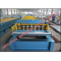 Quality Three High Trapezoid Gutters Profile Floor Deck Panel Cold Roll Forming Machine with Embossing Rollers for sale