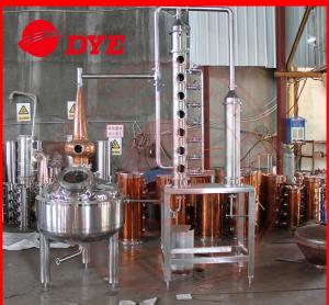 Quality Micro Copper Distiller 200L - 5000L , Vodka Distillation Equipment for sale
