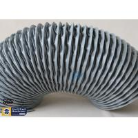 Quality PVC Coated Fiberglass Fabric Flexible Air Ducts 200MM Grey Waterproof Fireproof for sale