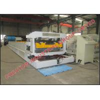 Quality Aluminium And Steel Stepped Tile Roof Tile Roll Forming Machine 3-3.5m/min for sale