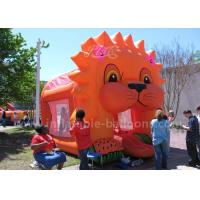 Quality Cartoon Aminal Inflatable Bouncy Castle , Inflatable Lion Jumping Castle For Kids for sale