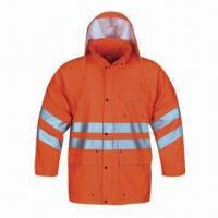 Quality High-visibility Raincoat for Adult, Made of PU, EN471 Standard for sale