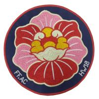 China Decorative Flower Personalised Iron On Patches Durable Shrink Proof on sale