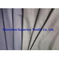 Quality Uniform Stretch Polyester Wool Twill Fabric in Charcoal Melange Grey Color for sale