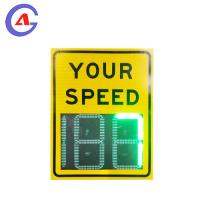 Quality Custom Design Reflective Traffic Safety Sign Road Safety Sign Speed Limit Radar Sign for sale