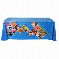 Quality Large format table wrap banner, with polyester fabric, used in expo, speech for sale