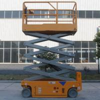 Buy cheap Portable Hydraulic Scissor Lift Aerial Lift Platform With Solid Non - Marking from wholesalers