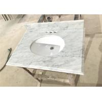 """Quality Carrara White Marble Prefab Vanity Tops 22"""" X 36"""" With Oval / Rectangle Sink cutout for sale"""