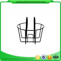 Quality Round Metal Wire Balcony Planting Hanging Baskets / Hanging Pots For Plants for sale