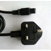 Quality UK C5 power cord set, laptop AC adapter input power cord for sale