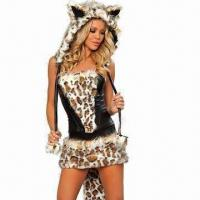 Quality Frisky lingerie costumes, includes top, skirt, hood, leg warmer and gloves for sale